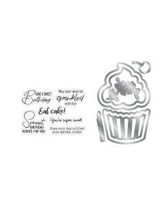 Gemini Shaker Card Stamp and Die Set - Sweet Birthday