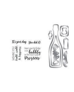 Gemini Shaker Card Stamp and Die Set - Prosecco Celebration