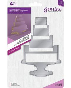 Gemini Create-a-Card Dimensionals Metal Die - Cake Concept Die