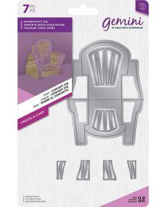 Gemini Create-a-Card Dimensionals Metal Die - Chair Concept Die