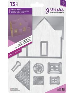 Gemini Create-a-Card Dimensionals Metal Die - House Concept Die