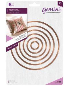 Gemini Multi Media Metal Die - Nesting Circles