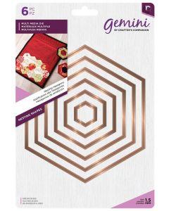 Gemini Multi Media Metal Die - Nesting Hexagons