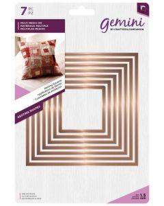 Gemini Multi Media Metal Die - Nesting Squares