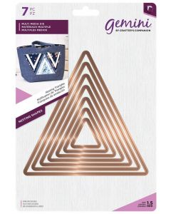 Gemini Multi Media Metal Die - Nesting Triangles