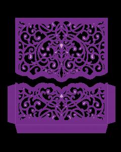 Gemini Create-a-Card Split Invitation Die - Elegant Swirls