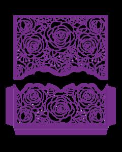 Gemini Create-a-Card Split Invitation Die - Roses in Bloom