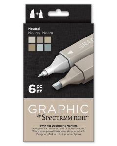 Graphic by Spectrum Noir 6 Pen Set - Neutral