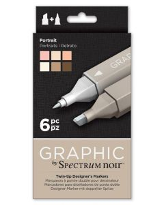 Graphic by Spectrum Noir 6 Pen Set - Portrait