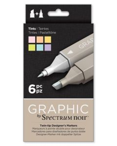 Graphic by Spectrum Noir 6 Pen Set - Tints