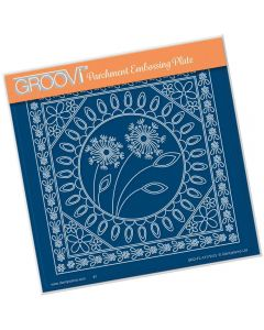 Claritystamp A5 Sq Plate - Tina's Dandelion and Floral Frames