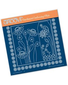 Claritystamp A5 Sq Plate - Tina's Daisy Frame and Dandelion