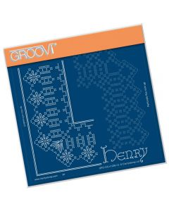 Claritystamp Lace A5 Sq Grid - King Henry
