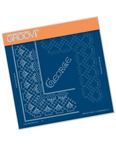 Claritystamp Lace A5 Sq Grid - King George
