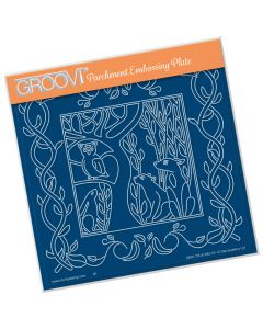 Claritystamp A5 Sq Plate - Woodland Foxes
