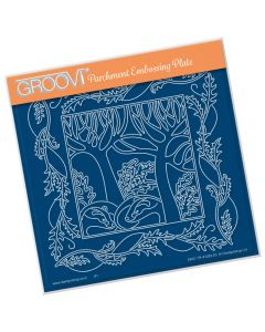 Claritystamp A5 Sq Plate - Woodland Badgers