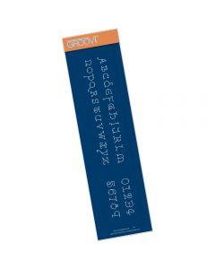 Claritystamp King's Alphabet Border Plate - Lower Case
