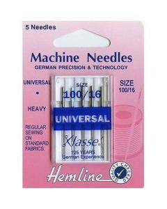 Hemline Universal Machine Needles - Heavy 100/16