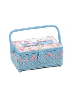 Groves Premium Novelty Collection Small Applique Sewing Box Caravan