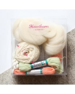 Hawthorn Handmade Weaving Supply Pack - Coral and Mint