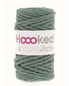 Hoooked Natural Jute Yarn - Lush Petrol