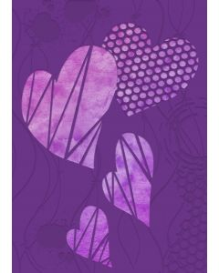 Gemini 3D Embossing Folder & Stencil - Contemporary Hearts