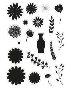 Crafter's Companion Clear Acrylic Stamps - Floral Arrangements