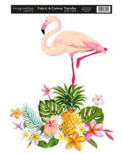 Imagination Crafts Fabric & Canvas (25x35cm) Transfer - Flamingoes