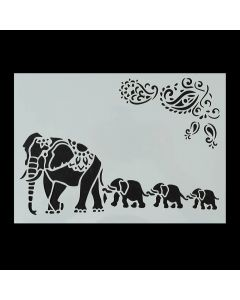 Imagination Crafts A4 Art Stencil - Elephant Family