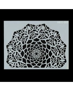 Imagination Crafts A5 Art Stencil - - Mandala Leaf