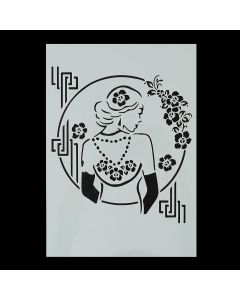 Imagination Crafts A4 Art Stencil - Pearl Lady