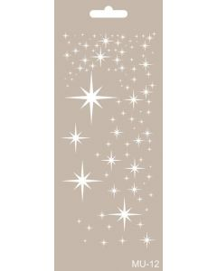 Imagination Crafts Art Stencils 25cm x 10cm - Stars
