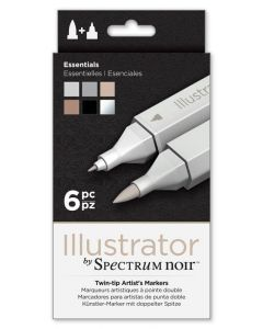 Illustrator by Spectrum Noir 6 Pen Set - Essentials