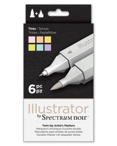 Illustrator by Spectrum Noir 6 Pen Set - Tints