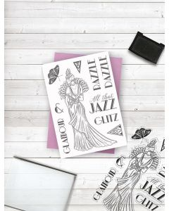 Crafter's Companion Clear Acrylic Stamp - All that Jazz