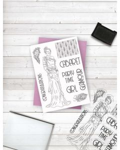 Crafter's Companion Clear Acrylic Stamp - Glamour Girl
