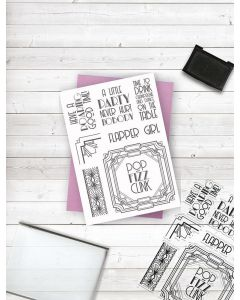 Crafter's Companion Clear Acrylic Stamp - Razzle Dazzle