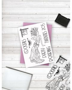 Crafter's Companion Clear Acrylic Stamp - Roaring 20s