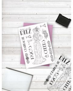 Crafter's Companion Clear Acrylic Stamp - The Ritz