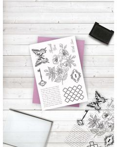 Crafter's Companion Clear Acrylic Stamp - Vintage Chic