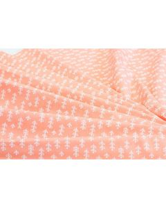 Threaders Home Grown Fabric - Delicate Petals (Peach)