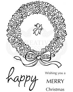 Woodware Clear Singles - Loopy Wreath