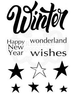 Woodware Clear Singles - Winter Wonderland