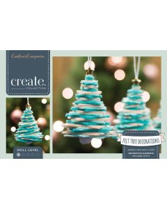 Crafter's Companion Felt Xmas Tree Decorations Kit