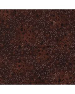 John Louden 100% Flutter Cotton Fabric - Chocolate