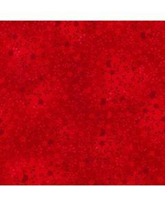 John Louden 100% Flutter Cotton Fabric - Red