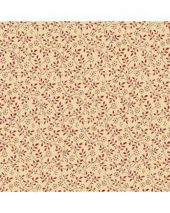 John Louden 100% Cotton Poplin Small Tone on Tone Floral Designs - Wine on Beige