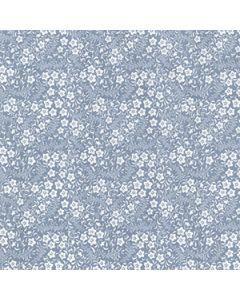 John Louden 100% Cotton Poplin Floral Designs - Blue