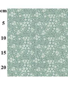 John Louden 100% Cotton Poplin Floral Designs - Green