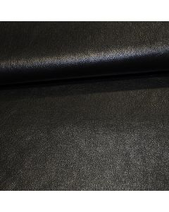 John Louden 140cms Faux Leather - Metallic Black